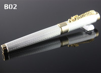 Jinhao 1200 Complete Silver Mesh Roller Ball Pen Dragon With Red Crystal In It S Eyes