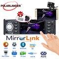 Автомагнитола 4 дюйма, стерео-система с поддержкой Bluetooth, MP5, с сенсорным экраном, с функцией Mirror Link, с разрешением USB/SD/FM/RDS, Типоразмер 1 Din