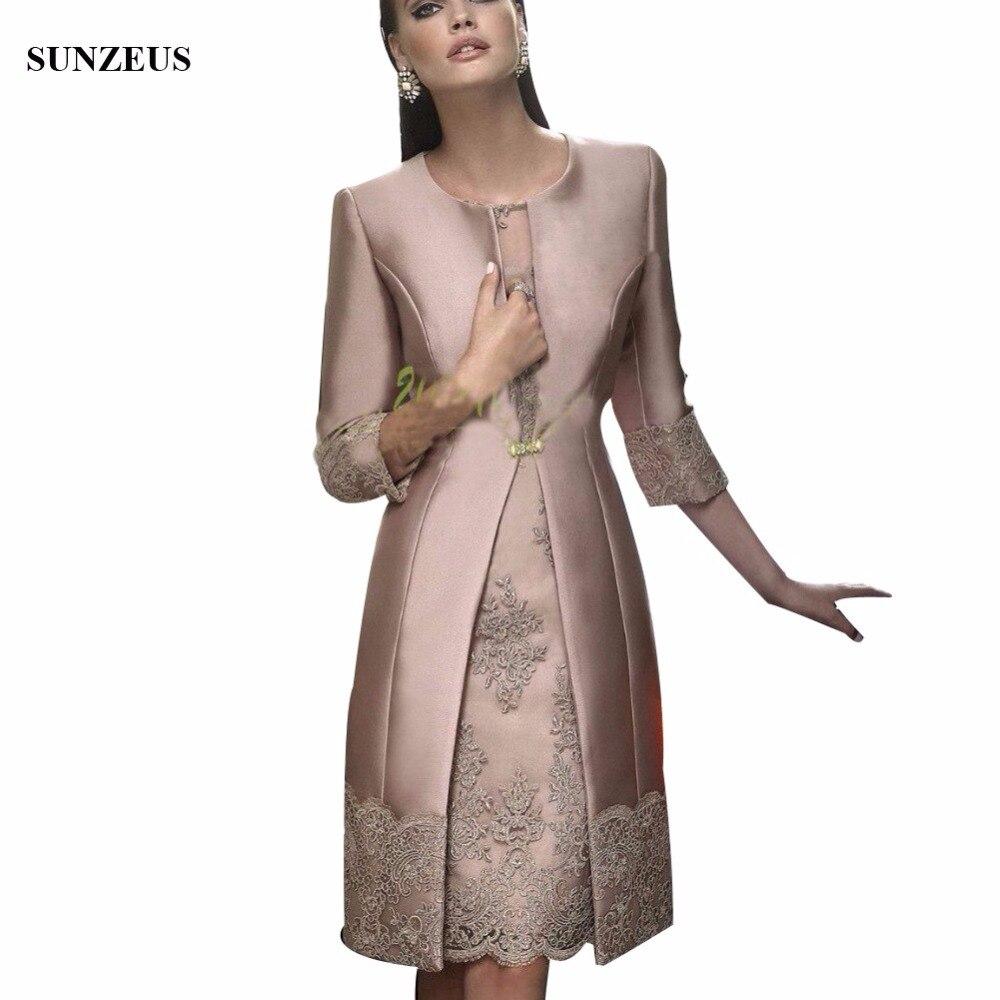 Модные туфли для невесты атласные платья длинное пальто свадебное вечернее платье гость/наряды Половина рукава Аппликации Для женщин вече