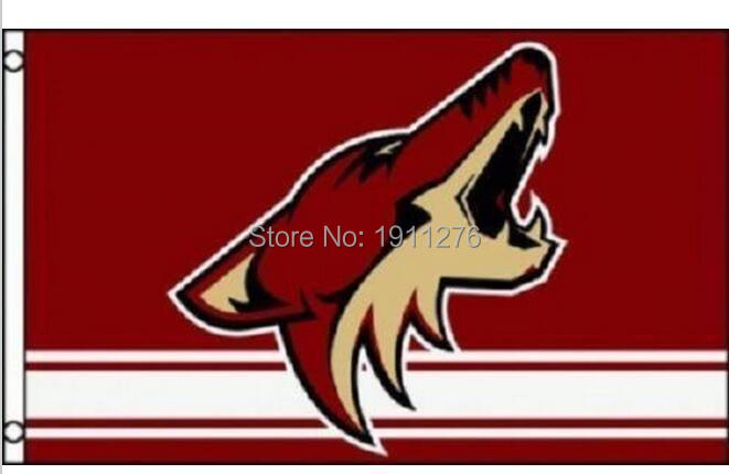 Phoenix Coyotes Flag 3x5 FT 150X90CM Banner Polyester NHL Arizona Coyotes flag banner