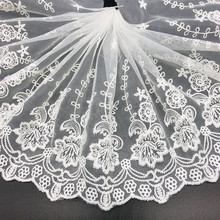 1yard white embroidery sewing tape guipure african lace fabric fit warp knitting DIY Handmade materials clothing accessories 110cm wide wedding dress lace embroidery diy women clothes materials clothing fabric accessories ivory white church happy hour