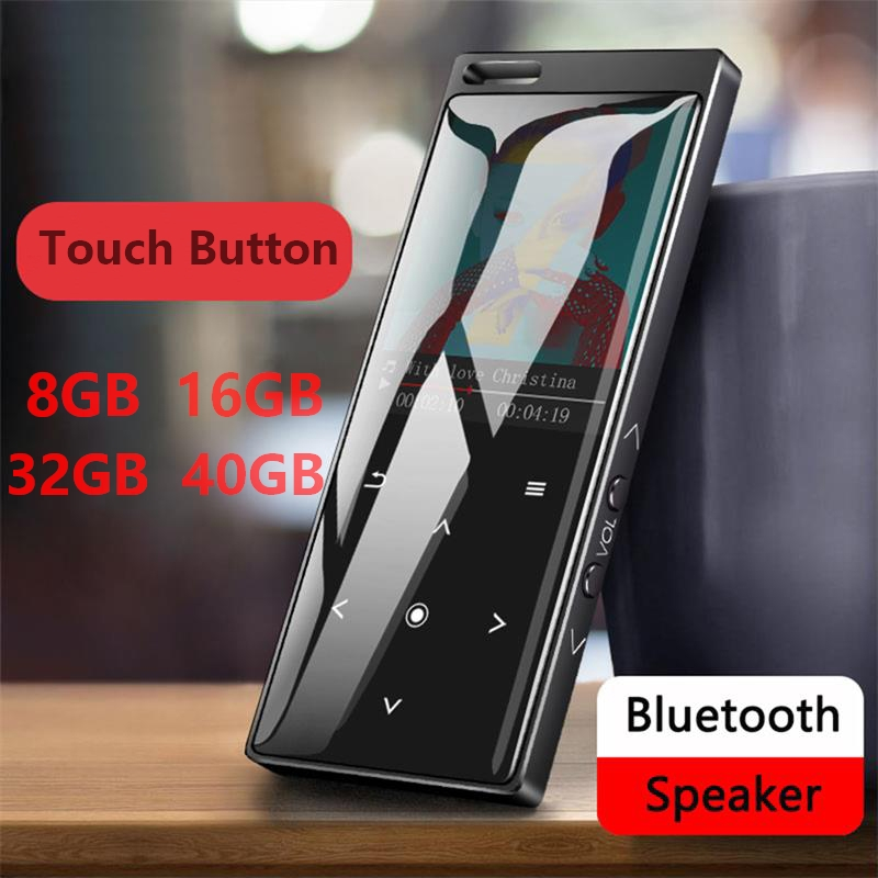 MP3 Player With Bluetooth4.1 Touch Button 8GB/16GB/32GB/40GB With FM Radio, Voice Recorder, Supports SD Card Up To 128GB
