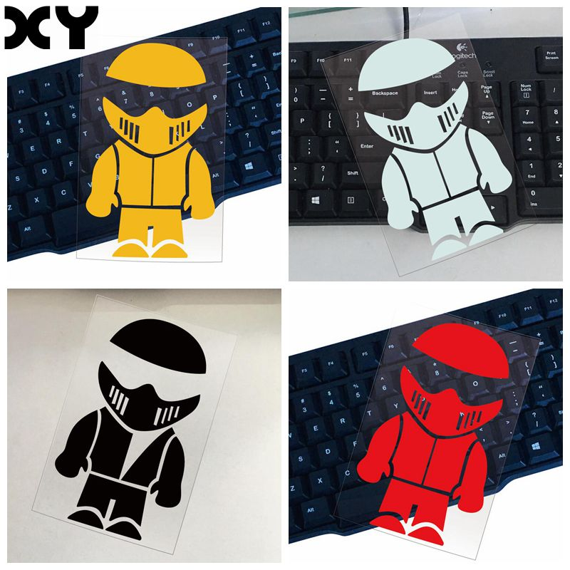 Motorbike Stickers Stig Automobiles Decals Reflective Cute Car Sticker Funny Cartoon Stickers Drop Shipping image