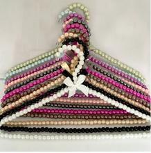 5 adet/grup 40 cm bayanlar inci askıları yetişkin plastik elbise askısı anti skid raf düğün elbisesi askıları