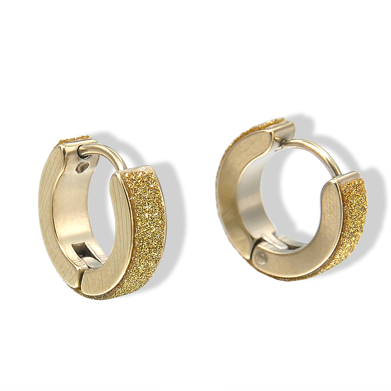 New Fashion Punk Mens Women Crystal Stainless Steel Ear Hoop Earrings For Huggies Er938 In From Jewelry Accessories On Aliexpress