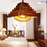 pendant light antique lamp Wooden mahjong lamp chinese style lift lamp wooden solid Pendant Lamps MZ5598