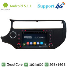 Quad Core 8″ 1024*600 2DIN Android 5.1.1 Car DVD Player Radio Stereo USB BT FM DAB+ 3G/4G WIFI GPS Map For KIA K3 RIO 2015 2016