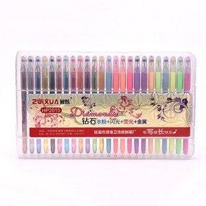 Image 5 - 24/36/48 màu sắc Gel Bút với Viên Kim Cương Tip & Gel Nạp Bút, màu Đánh Dấu với Trường Hợp, (Long Lanh, Neon, Pastel, Kim Loại)