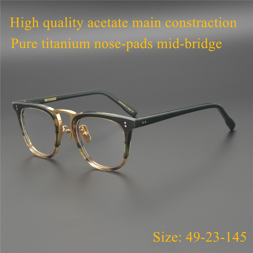 Vintage Quality Acetate eyeglasses frame OG NOMAD polygon eyewear women men original box case prescription lens
