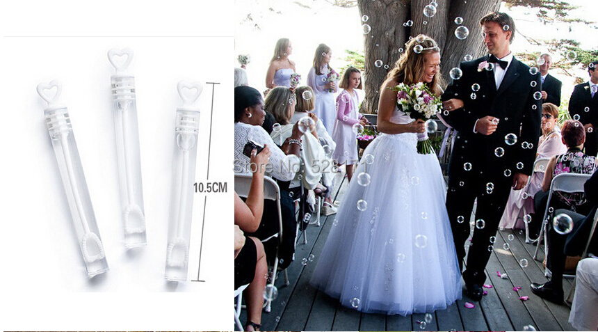 48pcs Lot Bride And Groom Wedding Bubble Bottles Love Heart Design Soap Water For Baby Shower Favors In Party DIY Decorations From Home Garden On