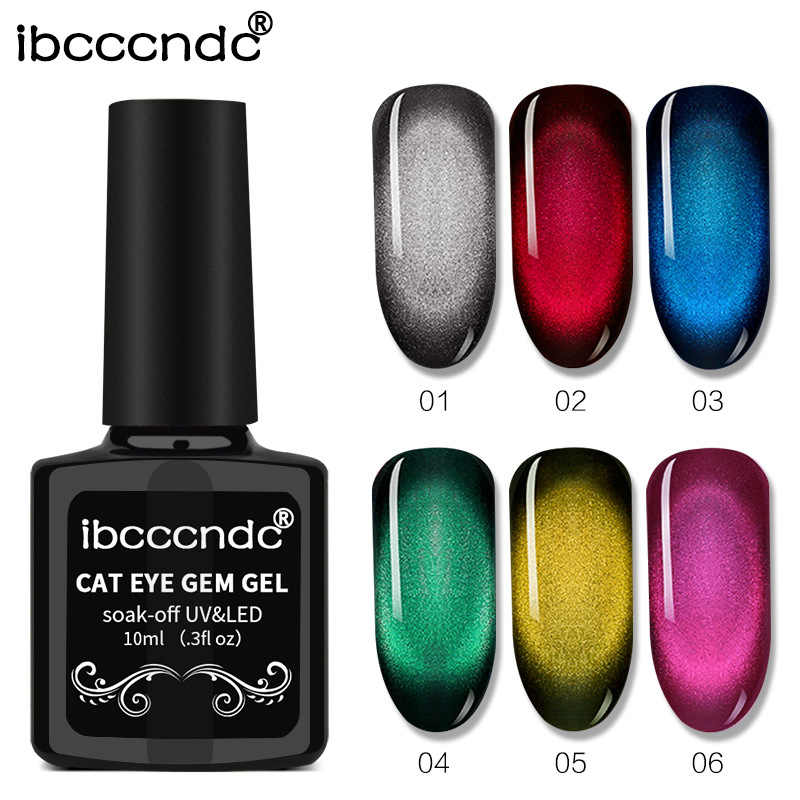 Ibcccndc Soak Off Led UV Gel Unha Polonês Gel Top Coat Polonês Olhos de Gato Magnética Nova Cor Mágica Prego Magnético verniz Gel Gel