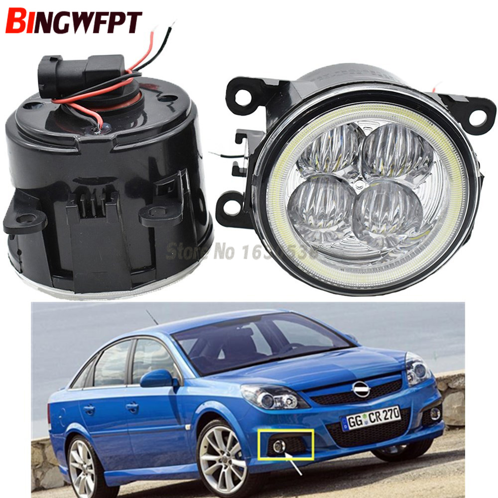 2x Super Bright Angel Eyes White Blue Led Fog Light For Opel Vectra GTS OPC C 2005-2008