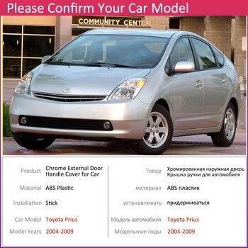 สำหรับ Toyota Prius XW20 สำหรับการเดินทาง 2004 ~ 2009 Chrome ด้านนอกรถอุปกรณ์เสริมสติกเกอร์ Trim ชุด 2005 2006 2007 2008