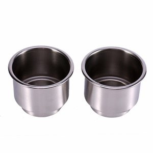 Image 2 - 2Pcs Cup Drink Bottle Holder for Marine Boat RV Camper Silver Color Stainless Steel Car Accessories