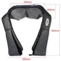 Oversea Electric Shiatsu Kneading Neck Shoulder Back Shoulder Waist Body Massager Car Home Infrared Heated Neck Massage Shawl