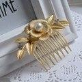 Cabelo pérola Pente de Noiva Acessórios Para o cabelo casamento jóias Dos Namorados Presente do Dia Moda Mulheres Headpieces Headwear