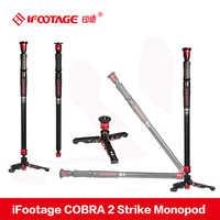 iFootage COBRA 2 Strike camera Monopod 8kg bear Portable DSLR Video Monopod with table tripod leg for Canon Sony Nikon Camera