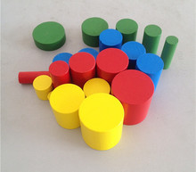 New Wooden Baby Toys Mini  Colorful Montessori Knotless Cylinders Educational Toy Gift