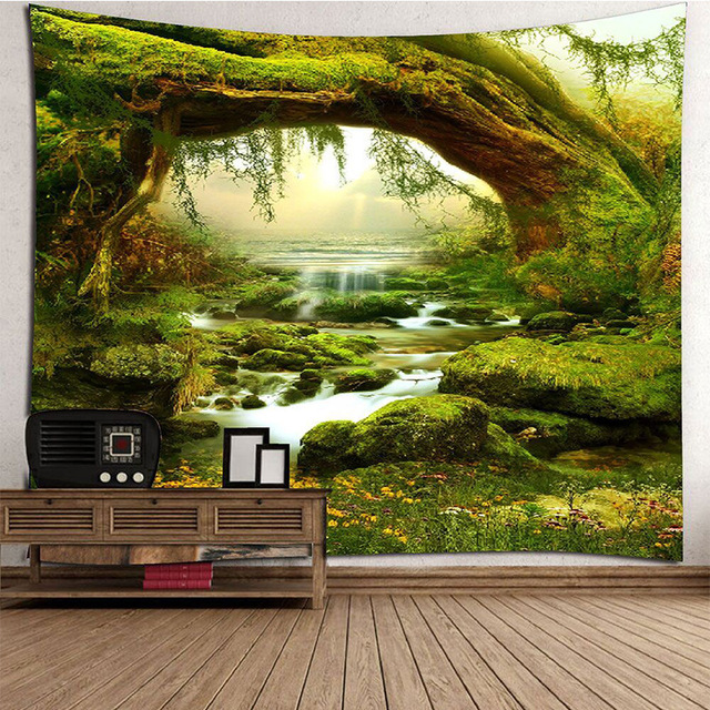 Psychedelic Tapestry Tenture Mural Tapices Macrame Wall Hanging Decoration Cloth Tapestry Fabric Home Decoration Accessories