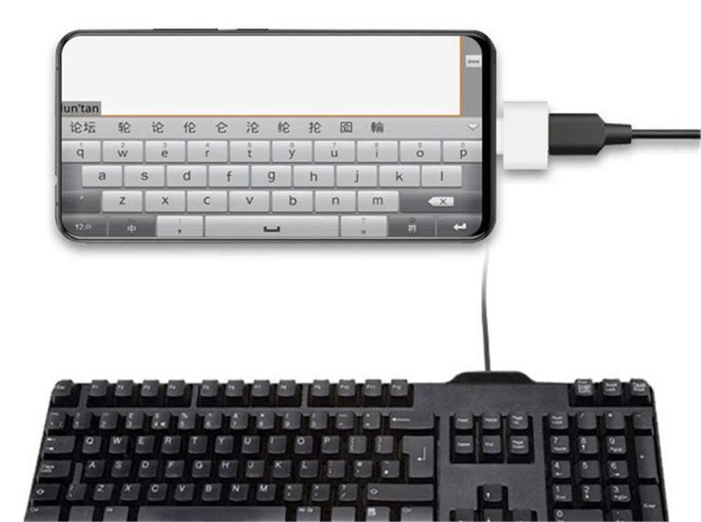 كابل OTG صغير USB OTG محول المصغّر USB إلى USB محول للكمبيوتر اللوحي دفتر أندرويد نوع c تهمة لعبة