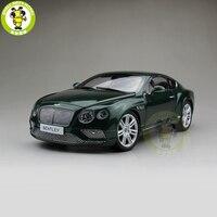 1/18 Paragon Bentley Континентальный GT дант литья под давлением Металл Модель автомобиля игрушка Зеленый PA 98222L подарок коллекция хобби