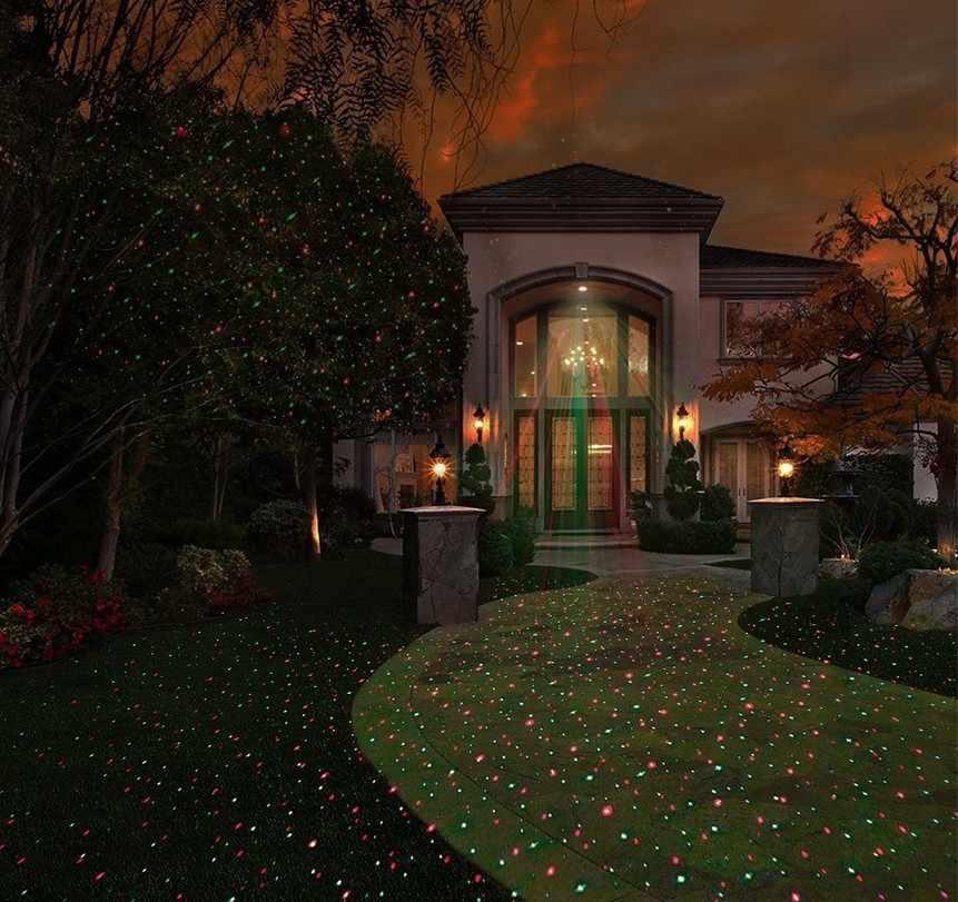 Солнечный светодиодный лазерный проектор открытый Водонепроницаемый светодиодный Рождественские огни газон лазерный свет Fariy проецирования Звезда проектор отдыха