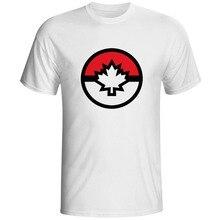 Video Game Poke Canadian T Shirt Creative Design Style Pop Plus Size Short Sleeve T-shirt Novelty Print Hip Hop Unisex Tee