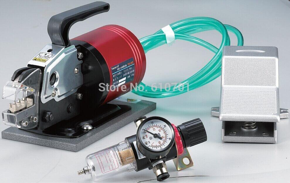 Pneumática Máquina de Friso Do Terminal Ferramentas Alicate Com Conjuntos de Matrizes de 15 FEK-5ND 6.0mm2 w Válvula Reguladora de Pressão w Foot Switch