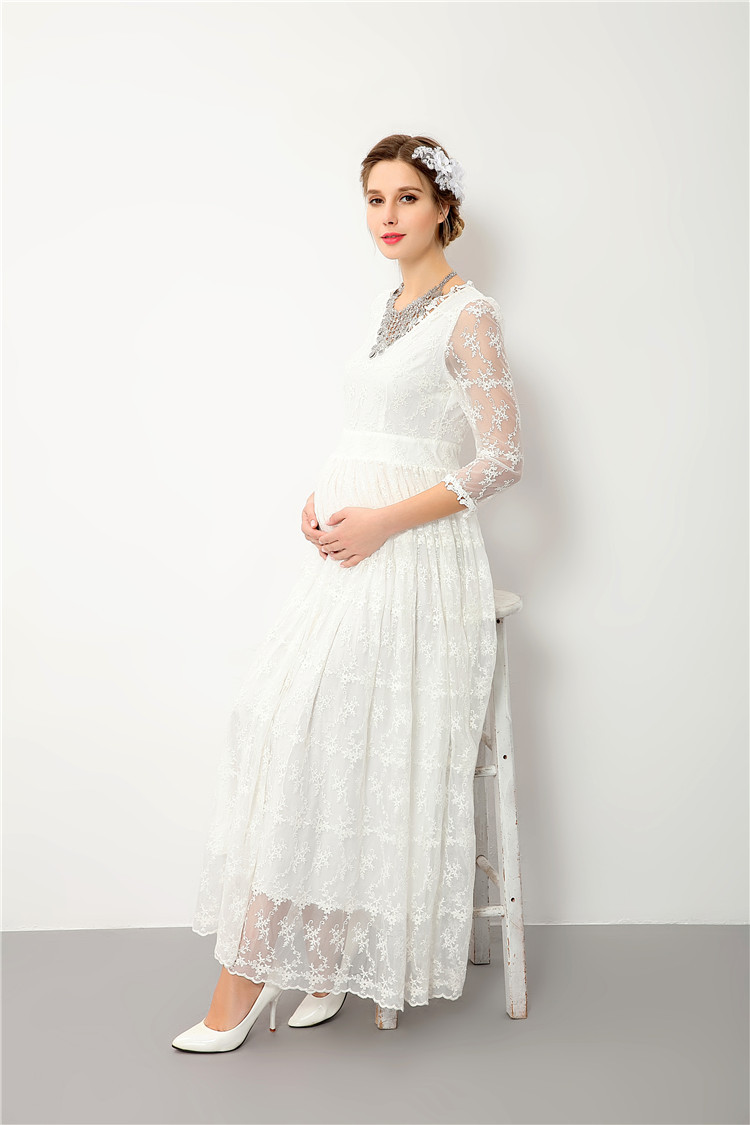 Aliexpress.com : Buy Maternity Dress For Baby Shower Lace Maternity  Photography Props V Neck Pregnancy Dress For Photo Shoot From Reliable Pregnancy  Dress ...