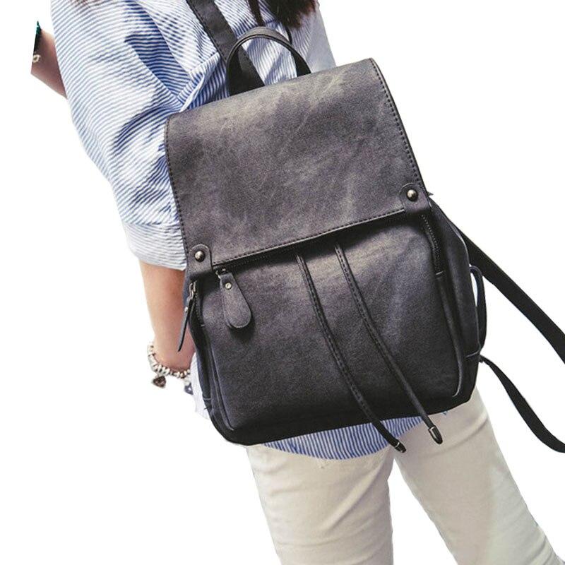 2016 Fashion Women PU Leather Backpack School Bag Travel Bookbag Casual Female Rucksack High Quality ladies pu backpacks XA684B микрофоны shure mx184