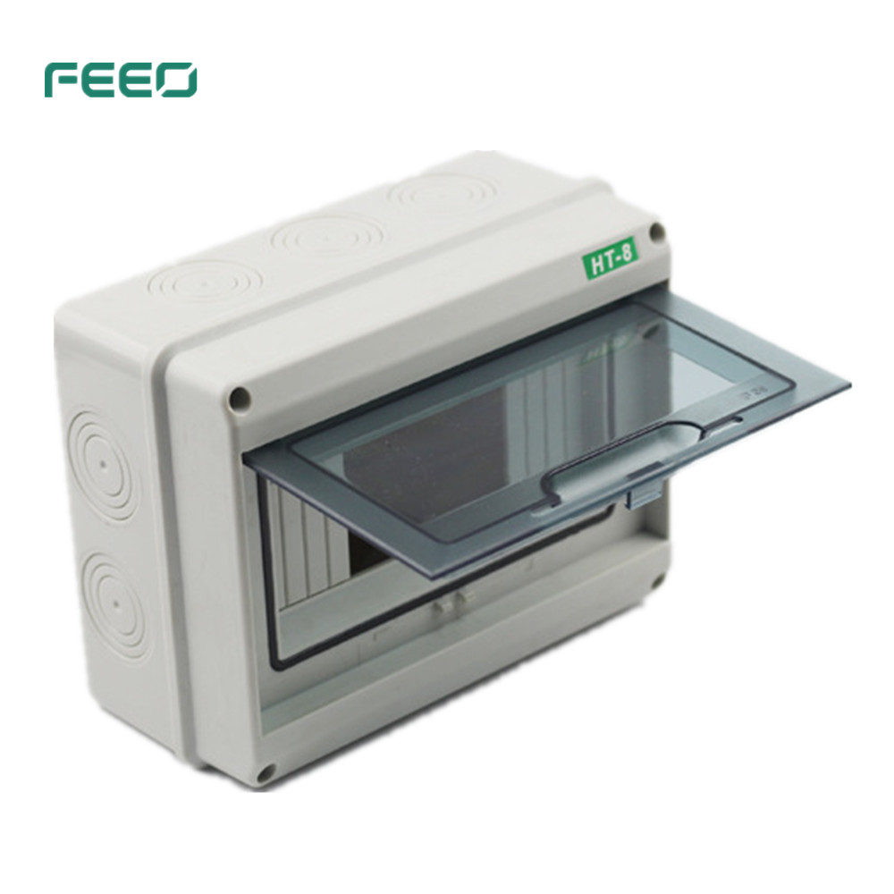 FEEO HT-5Way IP66 Waterproof And Moistureproof Distribution Box For Circuit Breakers Indoor On The Wall