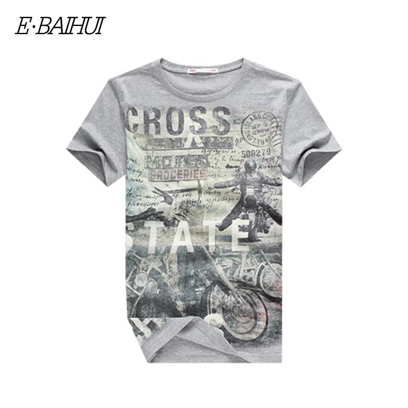 E-BAIHUI Summer Men Puuvillased rõivad Dsq T-särgid Camisetas t-särk Fitness topid TeeS Skateboard Moleton mens t-särgid Y032