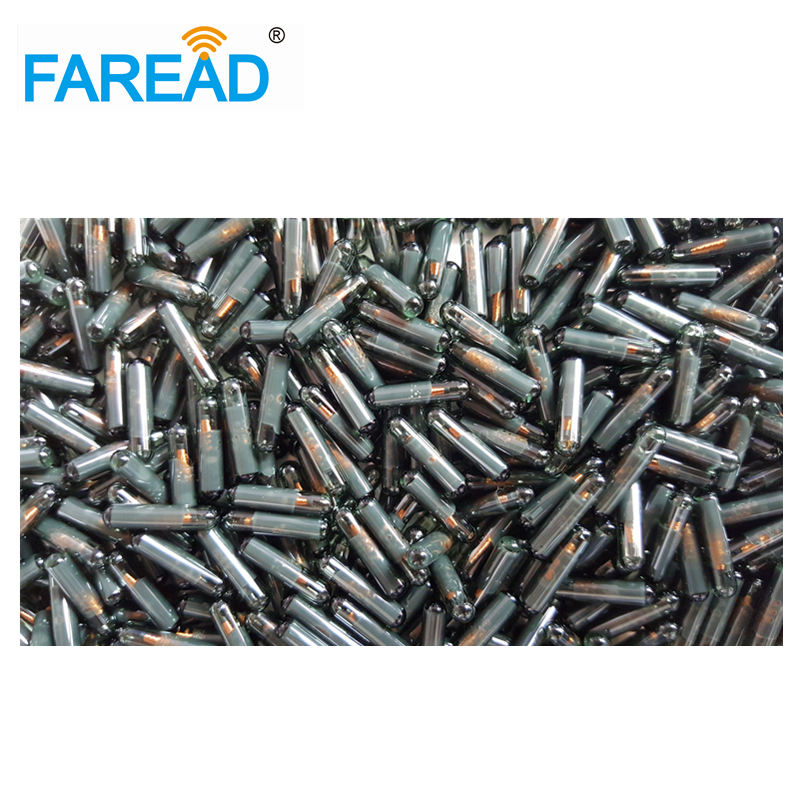 RFID Transponder 2*12mm HF 13.56Mhz  ISO15693 R/W Glass Tag