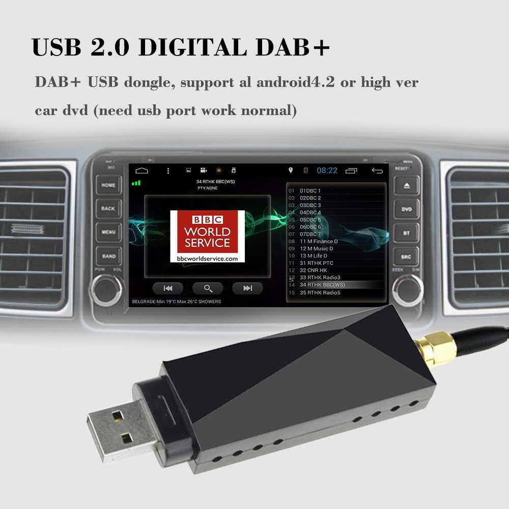 Dab車ラジオチューナーレシーバーusbスティックdabボックス用アンドロイドカーdvd含めるアンテナusbドングルデジタルオーディオ放送