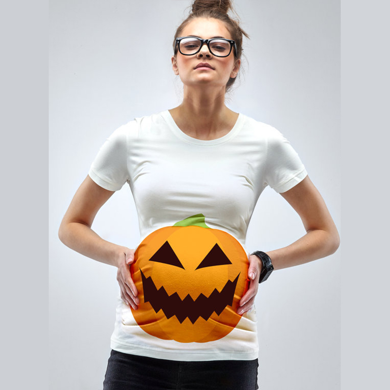 godier maternity halloween pumpkin t shirt funny pregnancy maternity top pregnant tee shirt for pregnant women maternity clothes in tees from mother kids
