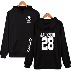 Fashion Hoodies Women Pullover Korean Got7 K-pop Fans Supportive Sweatshirt Women Moletom Got7 Sudaderas Mujer Never Ever 1