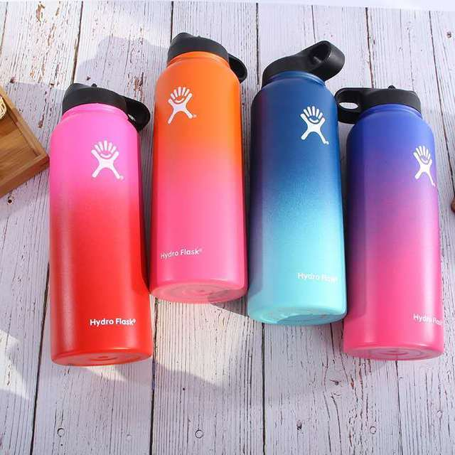 03a8673da6 Hydro Flask 32oz 40oz Water Bottle Stainless Steel Insulated Wide Mouth Hot