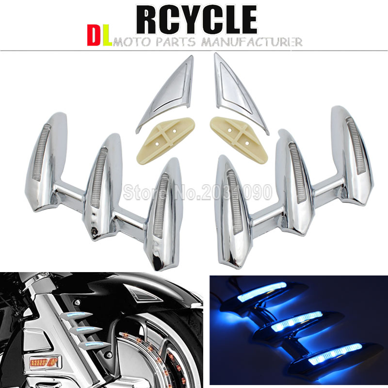 For Honda Fork Tower Accents Gold Wing Goldwing GL1800 2001 2011 Decoration Bokykits Parts Accessories Chrome
