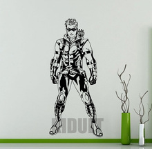 Cartoon wall sticker Green Arrow DC Marvel Comics superhero vinyl stickers Home Boy Child room interior with high quality