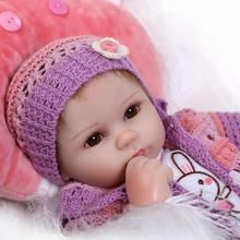 16 «Мягкая силиконовая Reborn Baby Doll игрушки Реалистичные 40 см винил возродиться младенцев игровой дом перед сном игрушка подарок на день рождения для девочек