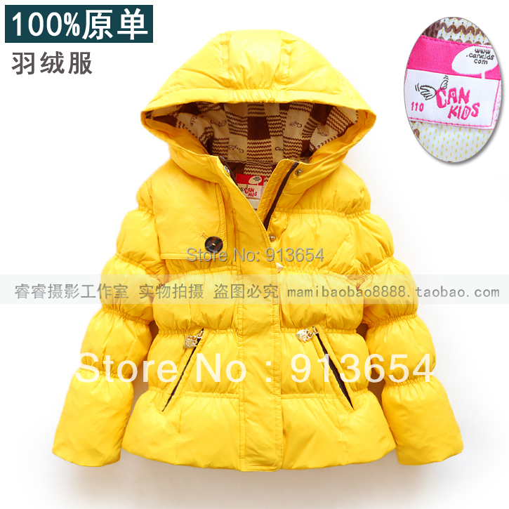 Free shipping new 2014 autumn Winter jacket baby clothing girls down coat hooded baby outerwear child down jacket Grey duck down new 2014 autumn winter baby