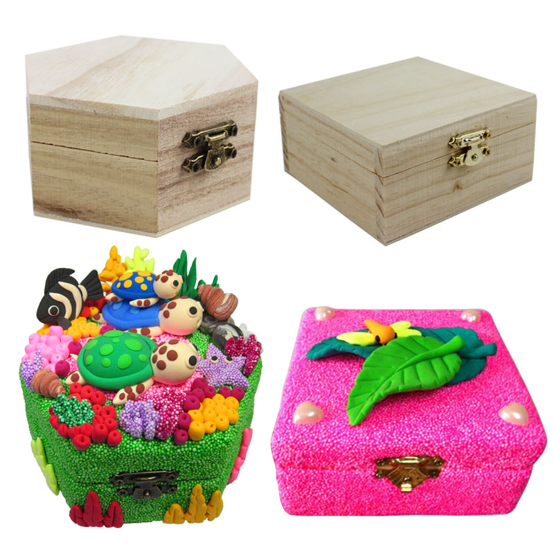 Decorated Wooden Boxes New Montessori Materials Children's Fun Craft Wooden Toys Log Box For Inspiration Design