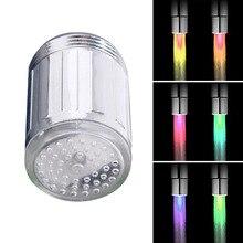 3 вида стилей светодиодный светильник, сменный душевой кран, датчик температуры воды, поток воды, мини-кран, светящийся душ, кухонные аксессуары для ванной комнаты