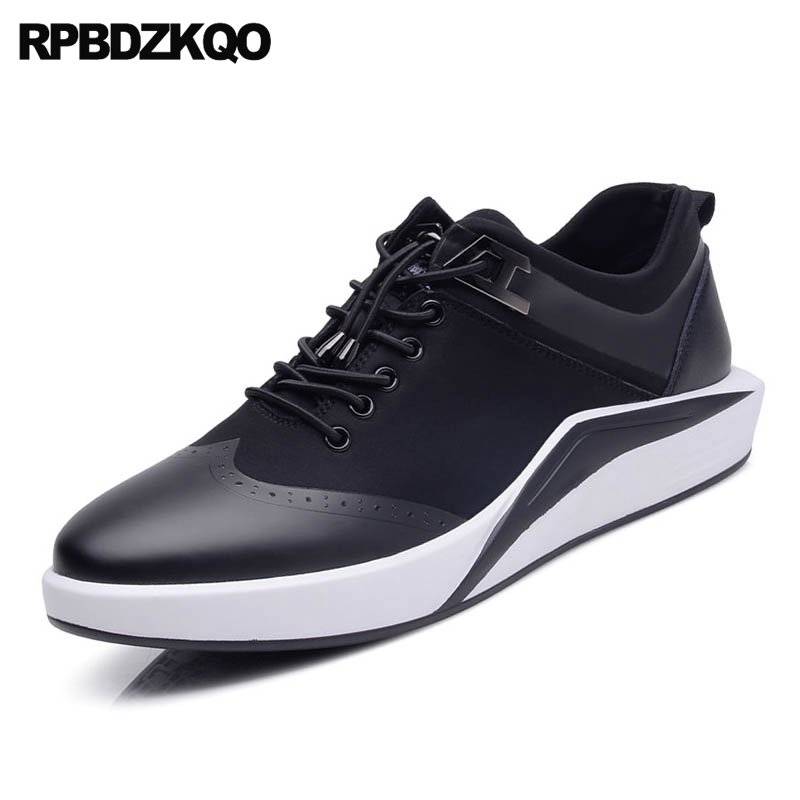 Trainers Sneakers Comfort Lace Up Black Walking 2017 New Men Flats Hot Sale Fashion Casual Spring Stylish Popular Autumn new spring men shoes trainers leather fashion casual high top walking lace up ankle boots for men red zapatillas hombre