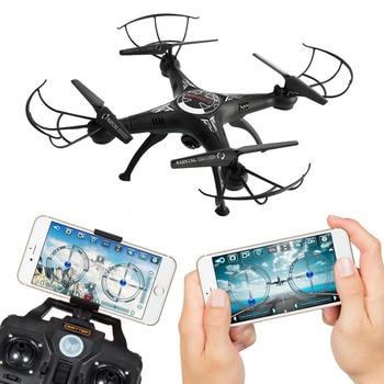 X5SW 2.4 г 4CH 6 оси FPV-системы Радиоуправляемый Дрон Quadcopter Wi-Fi 2.0MP 720 P Камера видео в режиме реального времени 2 управление режимы один-нажмите Return ...
