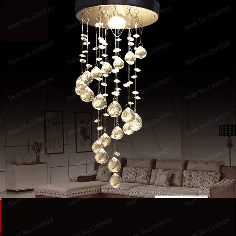 Modern Luxury LED Crystal Chandelier Bedroom Corridor Hallway Entrance Bar Balcony Dining Room Kitchen LED Lamps Home Decor