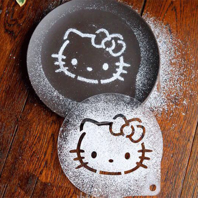 Plastic Hello Kitty Cake Decorating Supply Cupcake Template Coffee