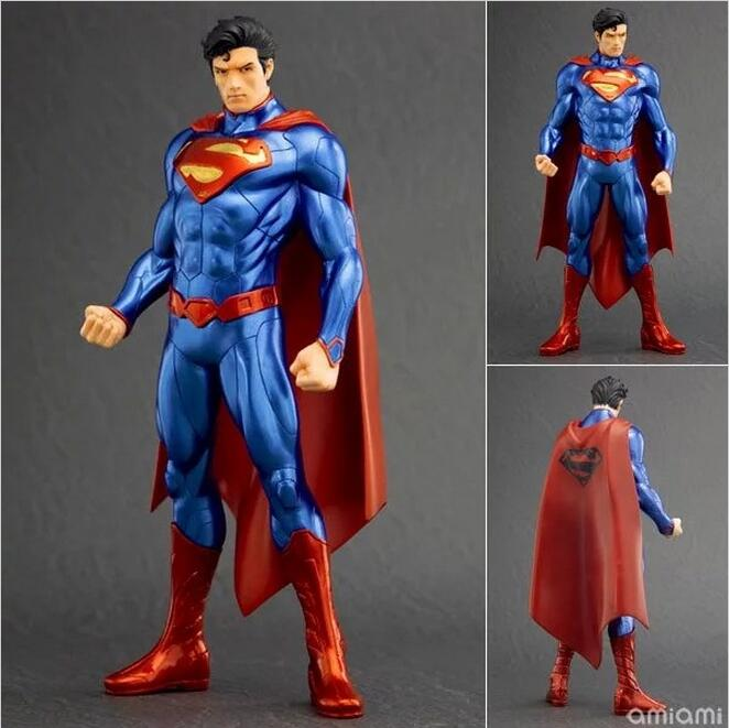 ARTFX + STATUE DC Super Hero Superman 1/10 Scale Pre-Painted PVC Action Figure Collectible Model Toy 20cm artfx statue justice league dc super hero superman 1 10 scale pre painted pvc action figure collectible model toy boxed wu1006