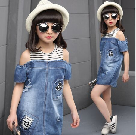 Платье из джинсы и хлопка
