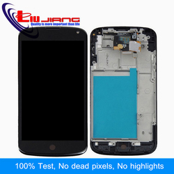 Liujiang 4.7'' Display For LG for Nexus 4 E960 LCD Display Touch Screen Digitizer Assembl Bezel Frame Replacment Repair parts